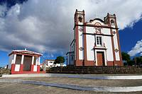 The Santo Antao church, in the town of Vila do Porto  Santa Maria island, Azores, Portugal