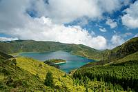 Fire Lake Lagoa do Fogo  Sao Miguel island, Azores, Portugal