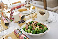 Brussels sprouts on Christmas table