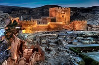Palace of Almotacin, The Alcazaba of Almeria  Andalusia  Spain