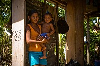 Mother with Child in the Lap, Sobrado Community, Negro River, Novo Airão, Amazonas, Brazil