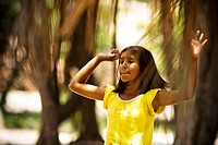 Girl Playing, Terra Preta Community, Negro River, Iranduba, Amazonas, Brazil
