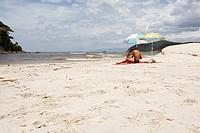 Beach, Swimmers, Barra do Una, Peruíbe, São Paulo, Brazil