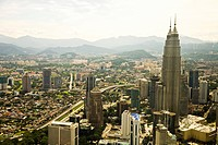 Aerial view of Kuala Lumpur, Sabah, Malaysian Borneo, Malaysia