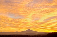 Sunrise Sky over Mt. Hood, Portland, Oregon, USA