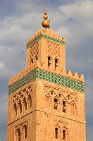 Moorish details on the Koutoubia Minaret, Marrakech, Marrakech, Morocco