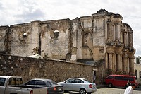 Old ruin and car park, Antigua, Guatemala