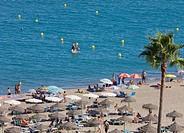 La Carihuela beach, Torremolinos, Costa del Sol, Malaga Province, Spain