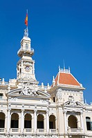 Historic architecture, People´s Committee Building, Ho Chi Minh Saigon, Southern Vietnam region, Vietnam