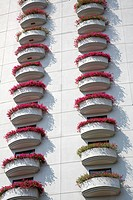 Flowers on Shangri_La Hotel at Mae Nam Chao Phray River, Bangkok, Thailand