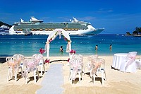 Wedding trellis on Turtle Beach, Ocho Rios, St. Ann's Parish, Jamaica, Caribbean