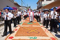 Honduras, Copan, Santa Rosa De Copan, Historic town center, Samana Santa, Holy Cross Procession