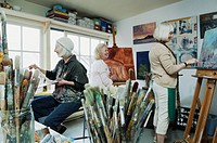 Artists in studio
