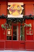 France, Rhone, Lyon, La Croix Rousse District, Les Demoiselles de Rochefort Restaurant on 31, Rue Rene Leynaud