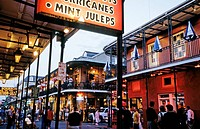 United States, Louisiana, New Orleans, Bourbon Street in the French Quarter