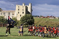 United Kingdom, North Yorkshire, Helmsley Castle, reconstruction of the English Civil War Society