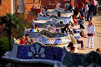 Spain, Catalonia, Barcelona, Vallarca District, Guell Park by Gaudi