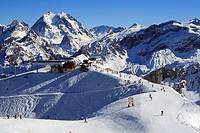 France, Savoie, Courchevel, on ski slopes