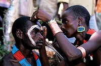 Ethiopia, Omo valley, the bull jumping ceremony of the hamer tribe