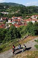 France, Ardeche, Doux valley, Lamastre, little town near the Monts d´Ardeche Regional Natural Park