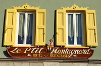 France, Ariege, Ax les Thermes 720m in the heart of Pyrenees Mountains, Le Ptit Montagnard hotel restaurant