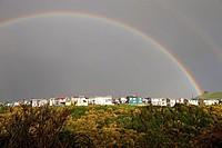 Chile, Los Lagos Region, Chiloé Island, Ancud, rainbow