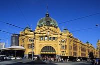 Australia, Victoria, Melbourne, Flinder´s Street station