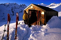 Italy, Valle d´Aosta The Aosta Valley, Val di Cogne, Gran Paradiso National Park, sunrise from the Leonessa bivouac