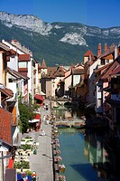 France, Haute Savoie, Annecy, Quai de l´ Eveche and Thiou river