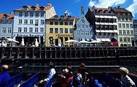 Denmark, Zealand, Copenhagen, Nyhavn