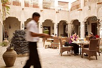 United Arab Emirates, Dubai, Bastakiya district, XVA Gallery, coffee and vegetarian restaurant within the gallery