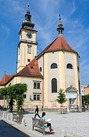 Austria, Linz, Stadpfarr Church with Romanesque and Baroque Style, Pfarrplatz 7
