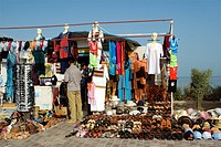 Tunisia, south region, south of Djerba Island, El Kantara, local handcraft and small bazar