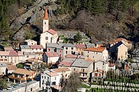 France, Alpes de Haute Provence, the Vallee de la Bleone, Prads Haute Bleone village 1048m