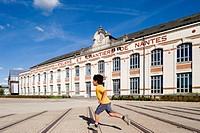 France, Loire Atlantique, Nantes, Isle of Nantes, former shipyards hangars
