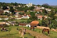 Brazil, Minas Gerais state, Tirandentes, Matriz de Santo Antonio, Santo Antonio church Gold Route, Estrada Real