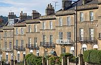 Georgian terrace, Bathwick Hill, Bath, England