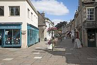 Pedestrianised shopping street, Corsham, Wiltshire, England
