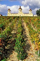 France, Gironde , Saint Estephe, Bordeaux and Medoc Wineyards, the chateau Cos d´Estournel, AOC Saint Estephe, Second Cru listed in 1855