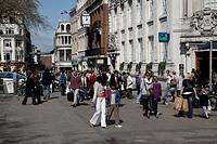 Pedestrianised city centre Norwich England