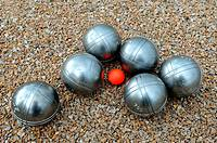 Game of bowls, petanque, south of France