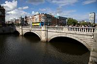 The oconnell bridge over the river liffey at the end of oconnell street dublin city centre republic of ireland