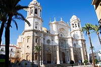 Cadiz facade cathedral, Cadiz, Spain