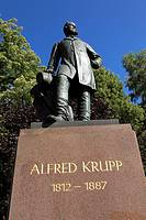 Germany, Essen, Ruhr area, North Rhine-Westphalia, D-Essen-Bredeney, Alfred Krupp, memorial in the Huegel Park of the Villa Huegel, residence of the K...