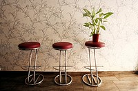 stools in a restaurant