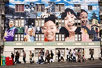 United States, California, San Francisco, Chinatown, passers and mural