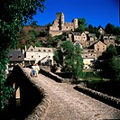 France, Aveyron, Belcastel village, labelled Les Plus Beaux Villages de France The Most Beautiful Villages of France