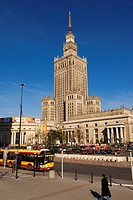 Poland, Mazovia Region, Warsaw, Palac Kultury i Nauki Science and Culture Palace