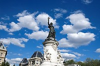 France, Paris, Place de la Republique