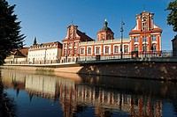 Poland, Silesia region, Wroclaw, the banks of the Odra, the building of the Ossolineum, near the University
